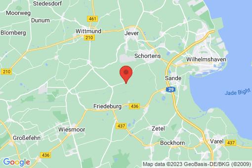 Karte Friedeburg Reepsholt, Abickhafe