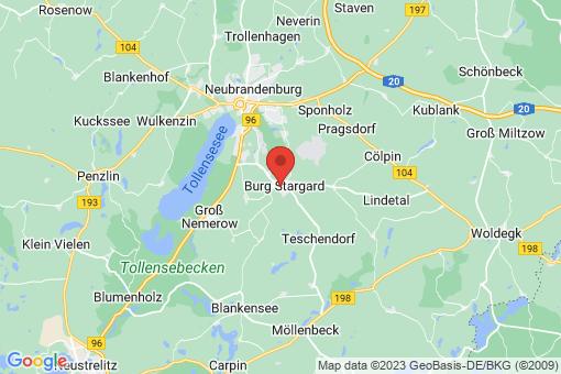 Karte Burg Stargard