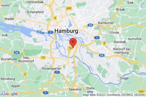 Karte Hamburg Wilhelmsburg