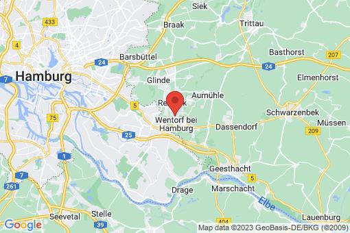 Karte Wentorf bei Hamburg
