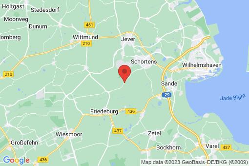 Karte Friedeburg Reepsholt, Dose