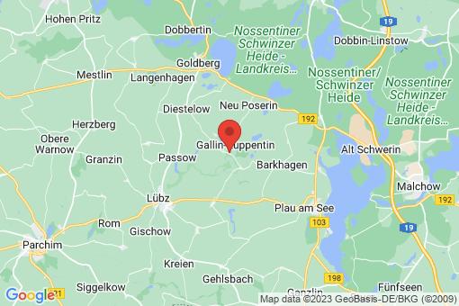 Karte Gallin-Kuppentin