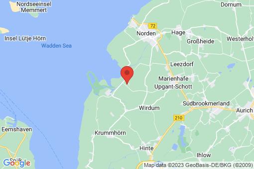 Karte Norden Leybuchtpolder