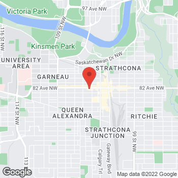 Map of Tim Hortons at 10519 82nd Ave Nw, Edmonton, AB T6E 2A3