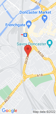 Map showing the location of the Doncaster A630 Cleveland Street monitoring site