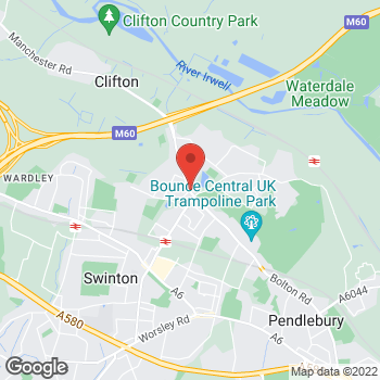 Map of Bargain Booze Bolton Road at 717 Bolton Road, Swinton, Lancashire M27 8FL