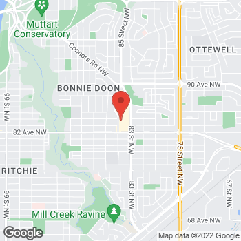 Map of Tim Hortons at 82nd Ave & 83rd St Nw, Edmonton, AB T6C 4E3