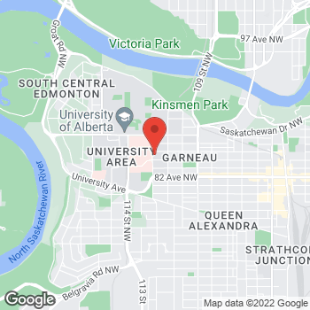 Map of Tim Hortons at 8427 112th St Nw, Edmonton, AB T6G 1K5