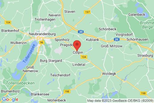 Karte Cölpin