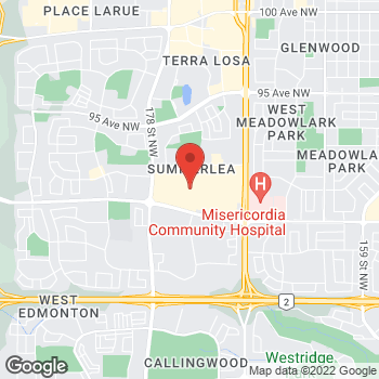 Map of LensCrafters at 8770 170th Street, Edmonton, AB T5T 3J7