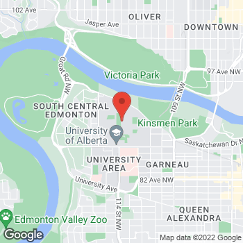 Map of Tim Hortons - Temporarily Closed at 125 Univ Campus Nw, Edmonton, AB T6G 2H6