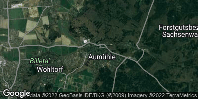 Google Map of Aumühle bei Hamburg
