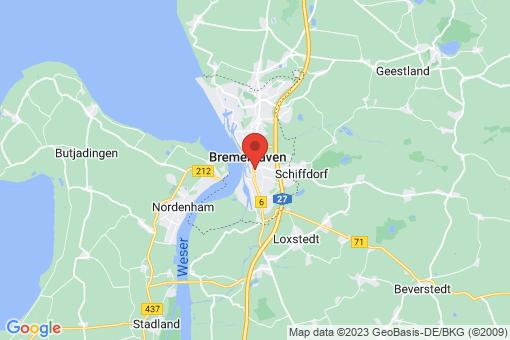 Karte Bremerhaven-Geestemünde