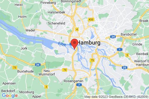 Karte Hamburg Waltershof