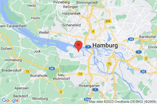 Karte Hamburg Finkenwerder