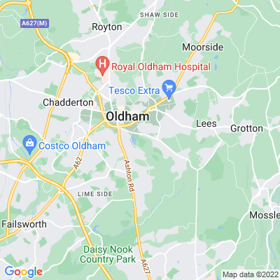 Alexandra Park, Oldham Location