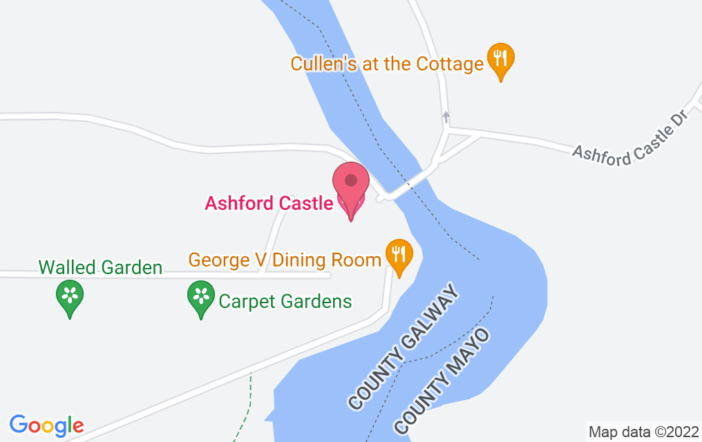 Get directions to The Dungeon at Ashford Castle