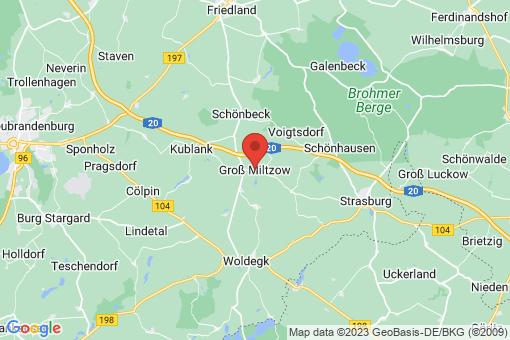 Karte Groß Miltzow