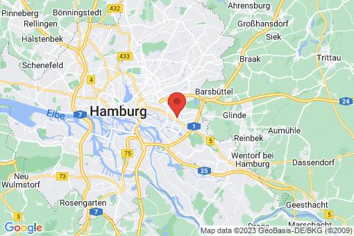Karte Hamburg-Mitte  Horn