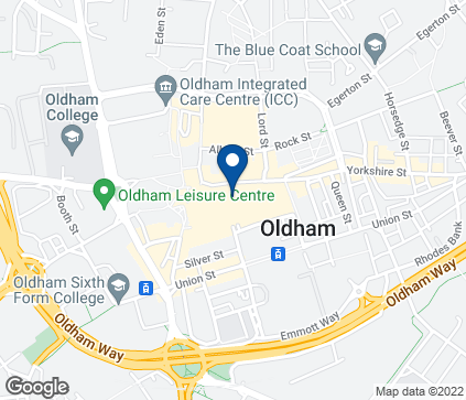 Map of 1 Town Square Centre in Oldham