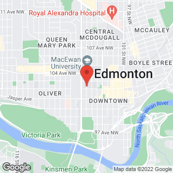 Map of Tim Hortons - Temporarily Closed at 10215 108 St Nw, Edmonton, AB T5J 1L6
