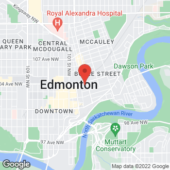 Map of Tim Hortons at 1a Sir Winston Churchill Square Nw, Edmonton, AB T5J 0R2