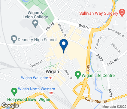 Map of 50 Market Place in Wigan