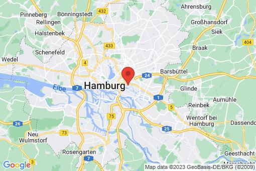 Karte Hamburg Hamm-Süd