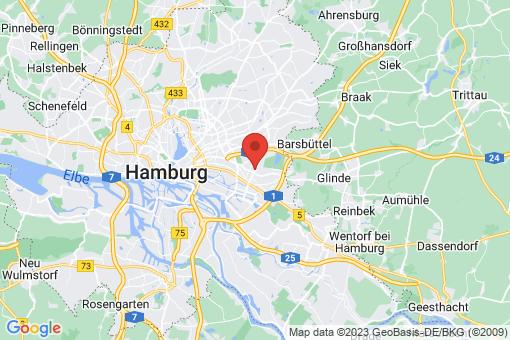 Karte Hamburg-Mitte  Billstedt  Horn