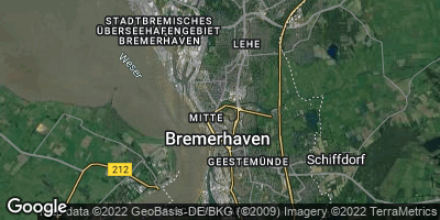 Google Map of Bremerhaven