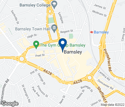 Map of 1 Queen Street in Barnsley
