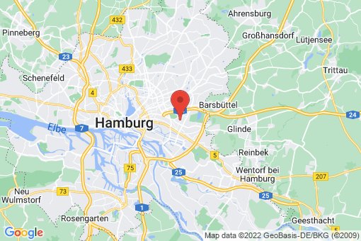 Karte Hamburg Horn