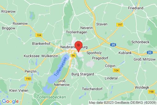 Karte Neubrandenburg
