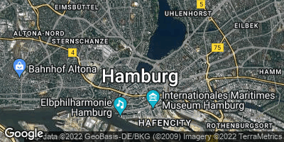 Google Map of Hamburg