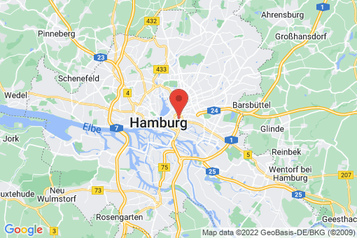 Karte Hamburg Borgfelde
