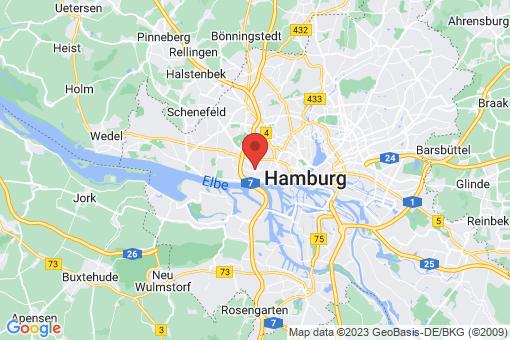 Karte Hamburg Ottensen