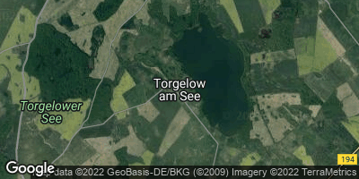 Google Map of Torgelow am See