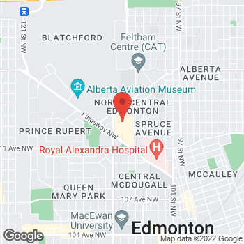 Map of Tim Hortons at 575 109th St, Edmonton, AB T5G 3A3