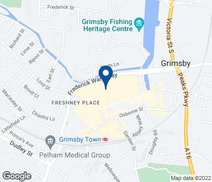 Map of 43 Friargate in Grimsby