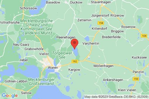 Karte Torgelow am See