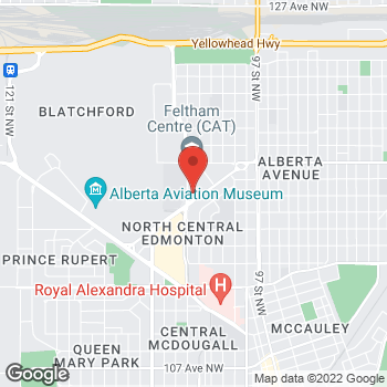 Map of Tim Hortons - Temporarily Closed at 11762 106 St Nw, Edmonton, AB T5G 2R1