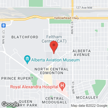 Map of Tim Hortons at 11763 106 St Nw, Edmonton, AB T5G 2R1