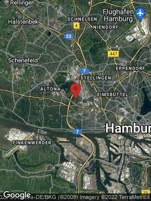 Google Map of Bahrenfeld