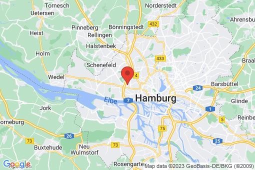 Karte Hamburg Bahrenfeld