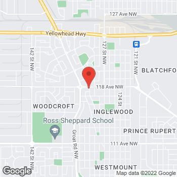 Map of Tim Hortons at 13015 118th Ave Nw, Edmonton, AB T5L 2L3