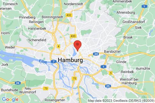 Karte Hamburg Uhlenhorst