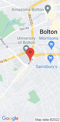 Map showing the location of the Bolton A579 Derby Street monitoring site