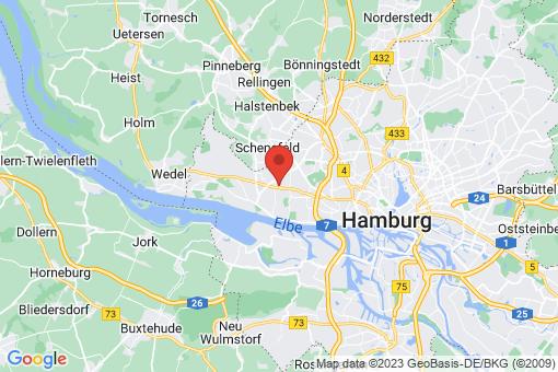 Karte Hamburg Osdorf