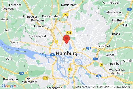 Karte Hamburg Harvestehude
