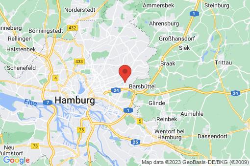Karte Hamburg Jenfeld